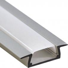 Профиль для светодиодной ленты аллюминиевый встраиваемый 22x7мм