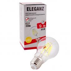 Светодиодная лампа Eleganz Е27 A60 9W филаментная