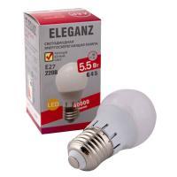 Светодиодная лампа Eleganz Е27 G45 5.5W шар