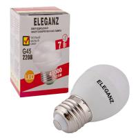 Светодиодная лампа Eleganz Е27 A60 7W G45 шар