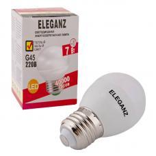 Светодиодная лампа Eleganz Е27 7W G45 шар