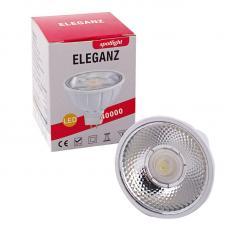 Светодиодная лампа Eleganz GU10 MR16 7W керамо-алюминий с отражателем