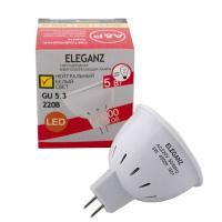 Светодиодная лампа Eleganz GU5.3 MR16 5W термопластик
