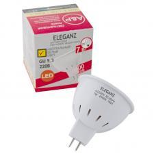 Светодиодная лампа Eleganz GU5.3 MR16 7W термопластик