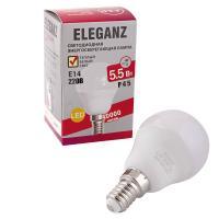 Светодиодная лампа Eleganz Е14 5.5W G45 шар