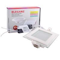 Светодиодный светильник Eleganz квадратный 6W